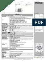 Italo 3 Product Sheet