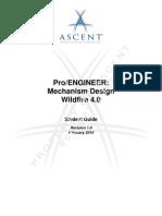 ProE Mechanism Design WF4 TOC
