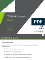 Prolongation Claims