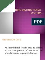 Designing Instructional System
