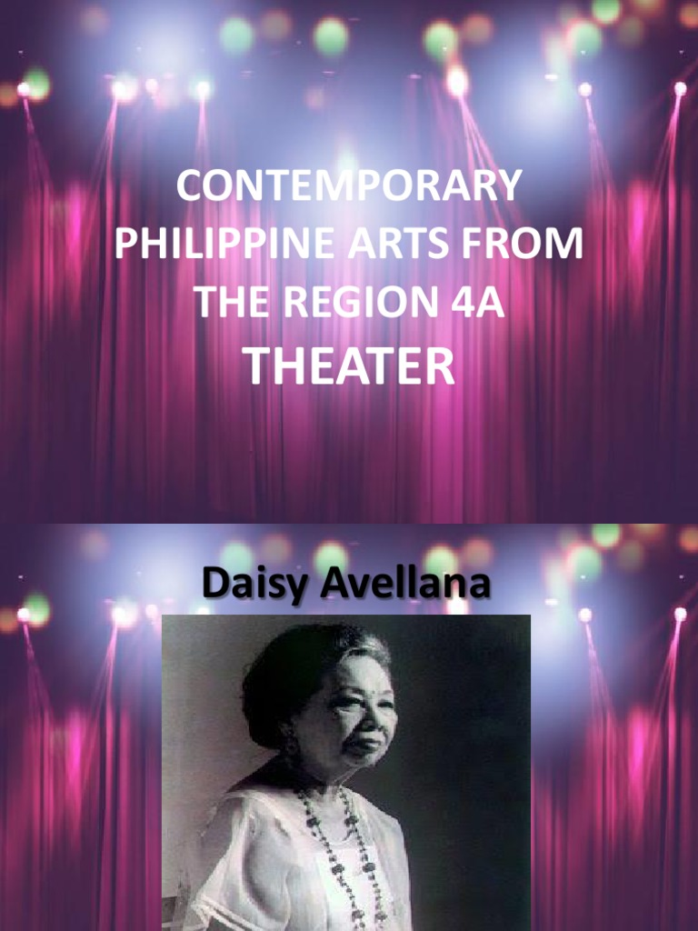Contemporary Ph Arts From The Region 4a Theater Philippines Theatre