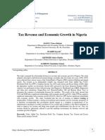 Tax Revenue and Economic Growth in Nigeria