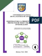 Esquemas de de Investigacion UNAMBA 2019