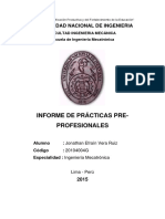 Informe de Practicas Pre Profesionales Ing Mecatronica UNI Caso Terminado