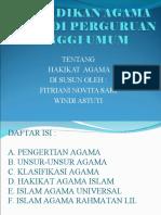 Pendidikan Agama Islam Di Perguruan Tinggi Umum