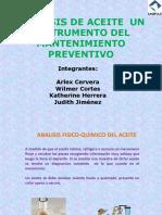 ANALISIS DE ACEITE  UN INSTRUMENTO DEL MANTENIMIENTO PREVENTIVO