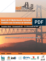 Anais do III Workshop de Iniciação Científica em Sistemas de Informação