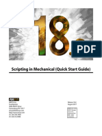 ANSYS Scripting in Mechanical Quick Start Guide
