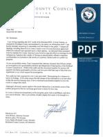 Councilman Walker Letter About NDA