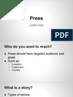 Press & PR by Justin Kan