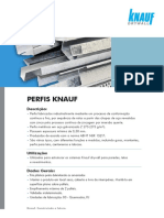 Ficha Técnica Knauf Perfis