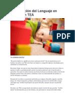 Estimulación Del Lenguaje en Niños Con TEA