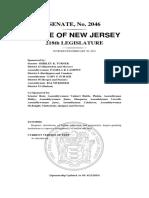 NJ Senate Bill 2046