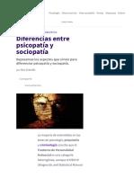 Diferencias Entre Psicopatía y Sociopatía
