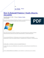 How to Reinstall Windows 7 Easily (Step-By-step Guide)