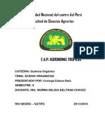 Informe de Vinagre QUIMICA PLATANO