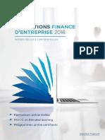 Catalogue Finance d'Entreprise 2016