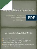 BIBLIA COMO LEERLA