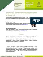Sistematización de La Experiencia Ciclovía Recreativa de La Secretaría