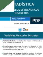 Clase Variables aleatorias dicretas. ESPOL