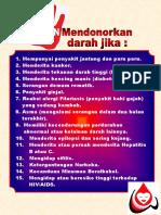 Poster 2 Jangan Menyumbang Darah Jika