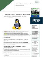 Cambiar Zona Horaria en Linux