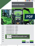 Deutz Fahr Agrofarm 410 420 430 Tractor Shop Service Repair Manual
