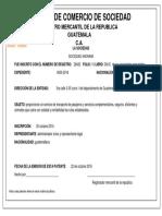 patente de comercio Guatemalteco