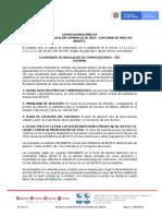 Aviso Convocatoria Proceso 62 de 2019