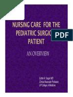 NURSING CARE FOR THE PEDIATRIC SURGICAL PATIENT
