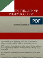 DVT Pharmacology