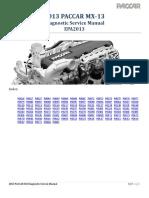 PACCAR MX-13 EPA2013 Diagnostic Manual - P0016 to P060C - Wk 11 2015