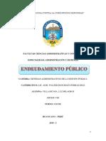 Endeudamiento Publico
