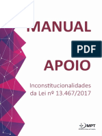 MPT - Manual Apoio Inconstitucionalidade Reforma