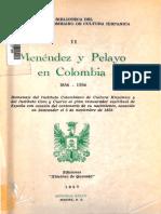 Epistolario de Menéndez Pelayo con corresponsales colombianos