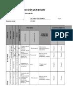 Matriz Para Identificacion de Peligros Valoracion de Riesgos y Determinacion de Controles LUCERO