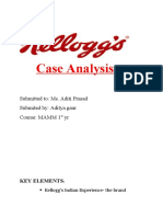 KELLOGG Case Analysis