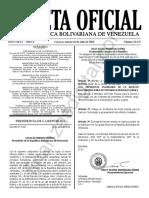 Gaceta Oficial 41675 Sumario