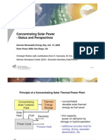 Concentrated Solar Power - Status and Perspectives 15/10/2008