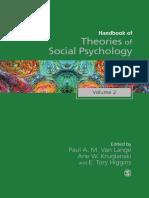 Handbook of Theories of Social Psychology Volume Two
