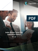 CTS Group Term Life Insurance (GTLI) Policy