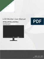 Manual Monitor AOC E970Sw