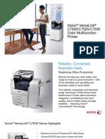VersaLink C7000 Printer & C7000 Series MLG US