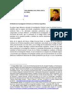 MODELO DE INVESTIGACIÓN CRIMINAL EN EL PERÚ