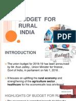 6e5f3e2735d6c4d6bb3c60597925aa71 Budget Proposal for Rural India
