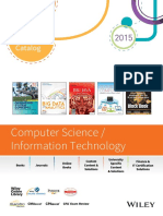 Wiley Academic Catalog Computer Science Information Technology 2015