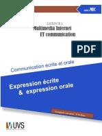 Expression Ecrite Et Orale