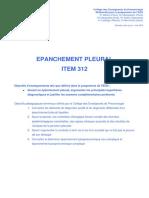 Item 312 - Epanchement Pleural 3-Cours