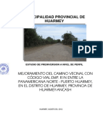 MEJORAMIENTO DEL CAMINO VECINAL CON CÓDIGO VIAL EMP. R1N ENTRE LA  PANAMERICANA NORTE - PUERTO HUARMEY, EN EL DISTRITO DE HUARMEY, PROVINCIA DE  HUARMEY-ANCASH