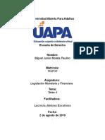 Tarea 4 Legislacion Monetaria y Financiera Miguel Junior Moreta